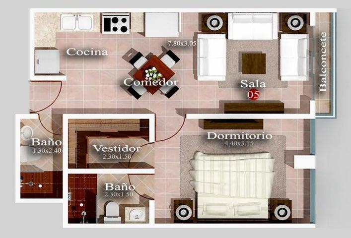 Apartamento Santo Domingo>Distrito Nacional>Mirador Norte - Venta:74.000 Dolares - codigo: 19-242