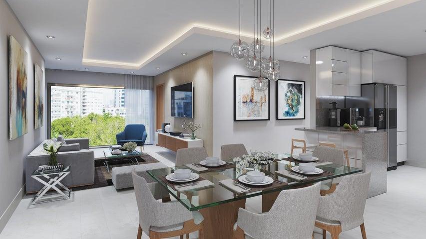 Apartamento Santo Domingo>Distrito Nacional>Evaristo Morales - Venta:198.000 Dolares - codigo: 19-497
