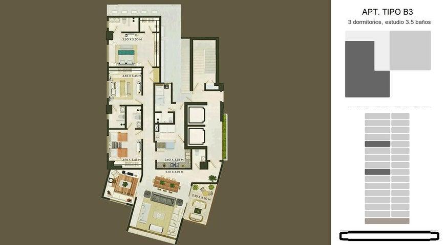 Apartamento Santo Domingo>Distrito Nacional>Naco - Venta:274.000 Dolares - codigo: 19-568