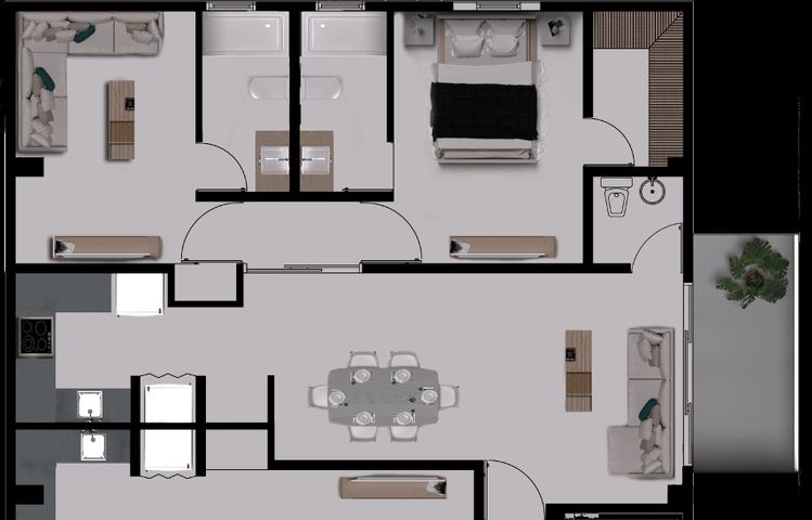 Apartamento Santo Domingo>Distrito Nacional>Serralles - Venta:132.750 Dolares - codigo: 19-616