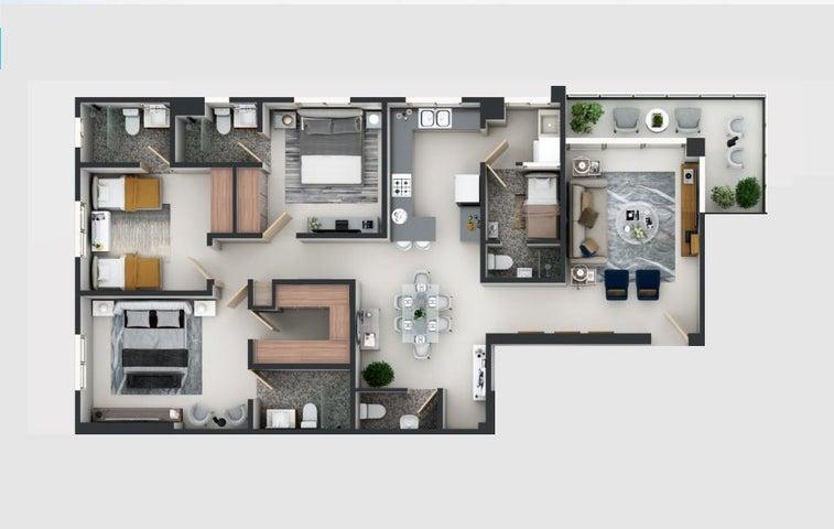 Apartamento Santo Domingo>Distrito Nacional>Bella Vista - Venta:192.700 Dolares - codigo: 19-851