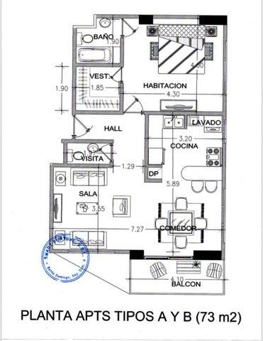 Apartamento Santo Domingo>Distrito Nacional>Piantini - Venta:152.000 Dolares - codigo: 19-951