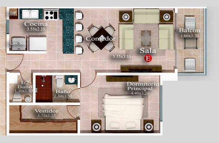 Apartamento Santo Domingo>Distrito Nacional>Evaristo Morales - Venta:91.000 Dolares - codigo: 19-953