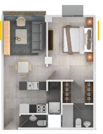 Apartamento Santo Domingo>Distrito Nacional>Bella Vista - Venta:74.500 Dolares - codigo: 19-1051