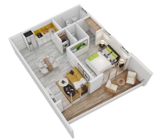 Apartamento La Altagracia>Punta Cana>Bavaro - Venta:89.999 Dolares - codigo: 19-1304