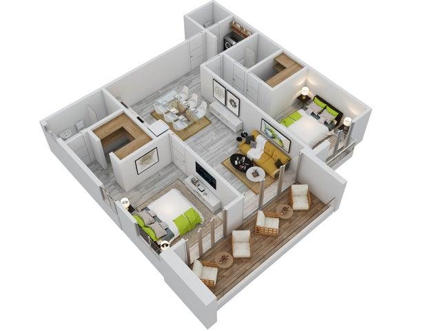 Apartamento La Altagracia>Punta Cana>Bavaro - Venta:154.999 Dolares - codigo: 19-1305