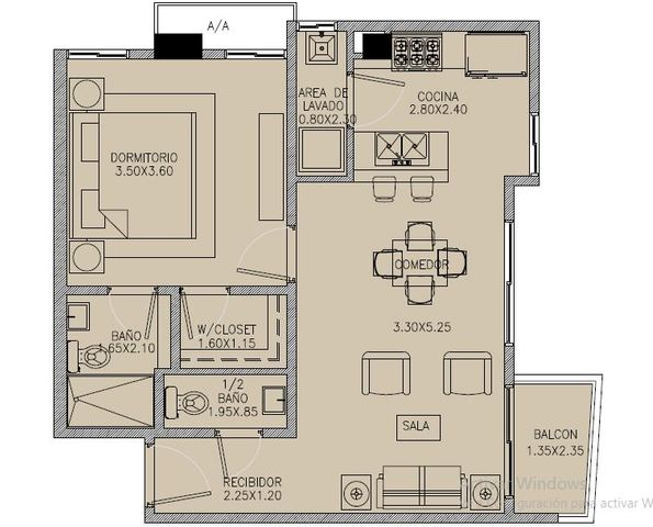 Apartamento Santo Domingo>Distrito Nacional>Naco - Venta:115.000 Dolares - codigo: 19-1310