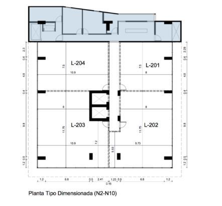 Oficina Santo Domingo>Distrito Nacional>La Esperilla - Alquiler:1.770 Dolares - codigo: 20-163