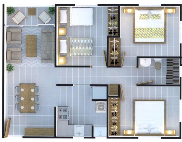 Apartamento Santo Domingo>Santo domingo Este>Las Americas - Venta:1.402.500 Pesos - codigo: 20-235