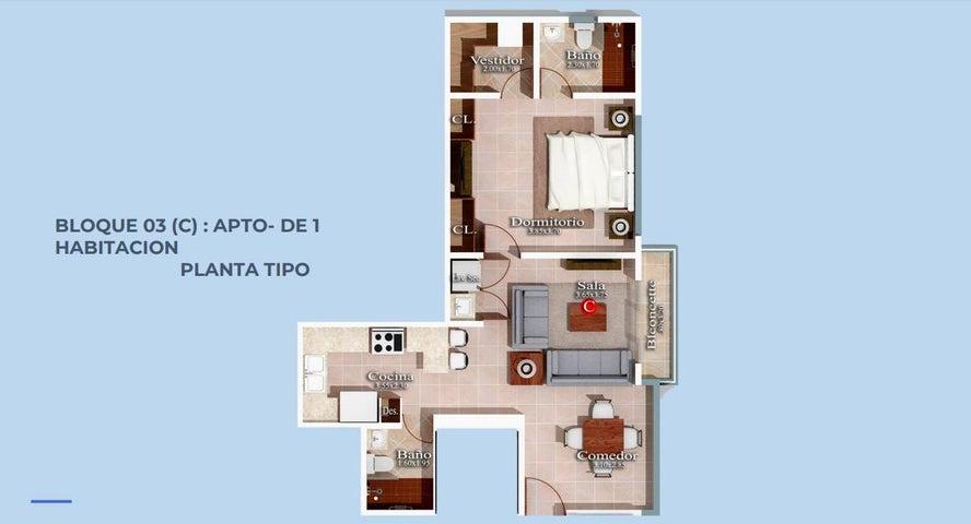 Apartamento Santo Domingo>Distrito Nacional>Serralles - Venta:98.300 Dolares - codigo: 20-400