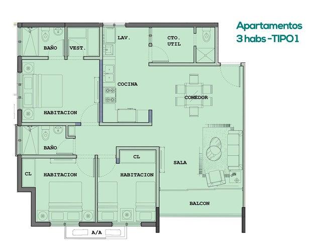Apartamento Santo Domingo>Santo Domingo Norte>Cd Modelo Mirador Norte - Venta:4.250.000 Pesos - codigo: 21-479