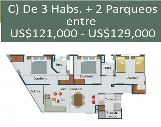 Apartamento Santo Domingo>Distrito Nacional>La Julia - Venta:116.000 Dolares - codigo: 21-679