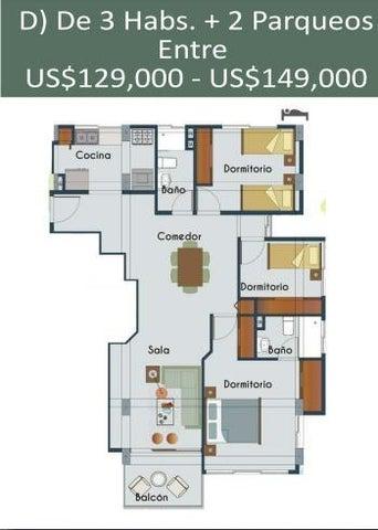 Apartamento Santo Domingo>Distrito Nacional>La Julia - Venta:129.000 Dolares - codigo: 21-689