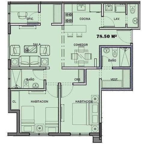 Apartamento Santo Domingo>Santo Domingo Norte>Colinas del Arroyo - Venta:3.625.000 Pesos - codigo: 21-818