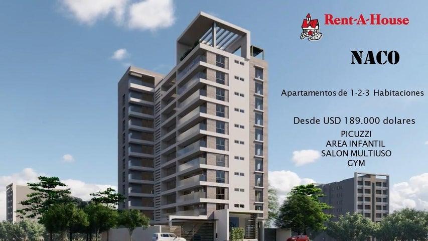 Apartamento Santo Domingo>Distrito Nacional>Naco - Venta:195.000 Dolares - codigo: 21-869