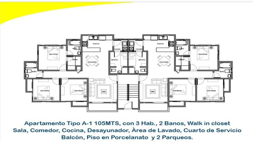 Apartamento Santo Domingo>Distrito Nacional>Altos de Arroyo Hondo - Venta:3.890.000 Pesos - codigo: 21-896