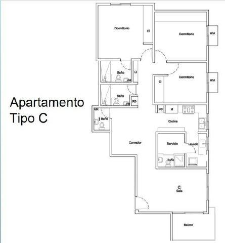 Apartamento Santo Domingo>Distrito Nacional>Renacimiento - Venta:146.580 Dolares - codigo: 21-1001