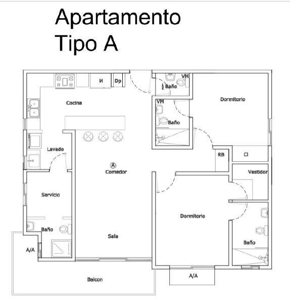 Apartamento Santo Domingo>Distrito Nacional>Renacimiento - Venta:188.838 Dolares - codigo: 21-1004