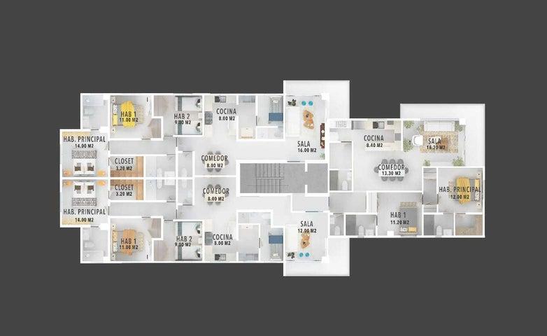 Apartamento Santo Domingo>Distrito Nacional>Viejo Arroyo Hondo - Venta:112.100 Dolares - codigo: 21-1086