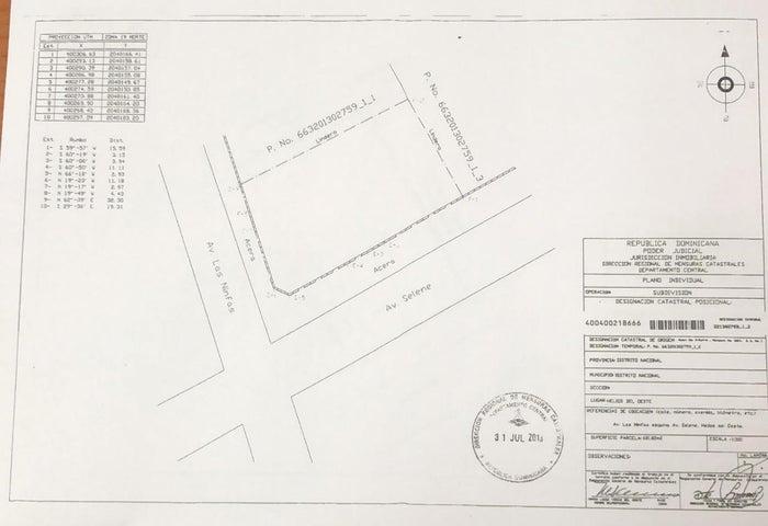Terreno Santo Domingo>Distrito Nacional>Bella Vista - Venta:750.000 Dolares - codigo: 21-1140