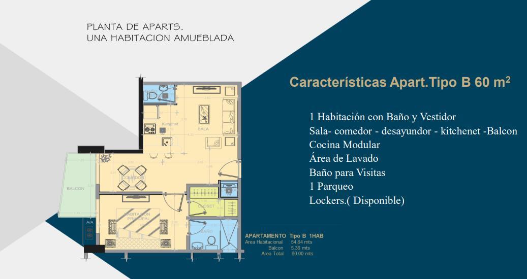 Apartamento Santo Domingo>Distrito Nacional>Evaristo Morales - Venta:120.000 Dolares - codigo: 21-1162