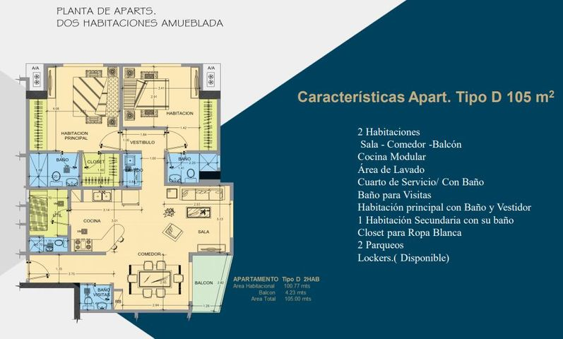Apartamento Santo Domingo>Distrito Nacional>Evaristo Morales - Venta:147.000 Dolares - codigo: 21-1165