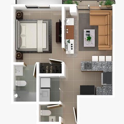 Apartamento Santo Domingo>Distrito Nacional>Bella Vista - Venta:97.500 Dolares - codigo: 21-1163