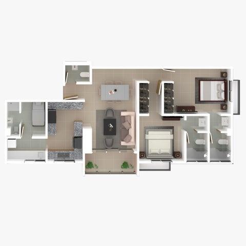 Apartamento Santo Domingo>Distrito Nacional>Bella Vista - Venta:132.500 Dolares - codigo: 21-1179