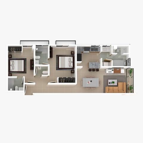 Apartamento Santo Domingo>Distrito Nacional>Bella Vista - Venta:105.500 Dolares - codigo: 21-1181