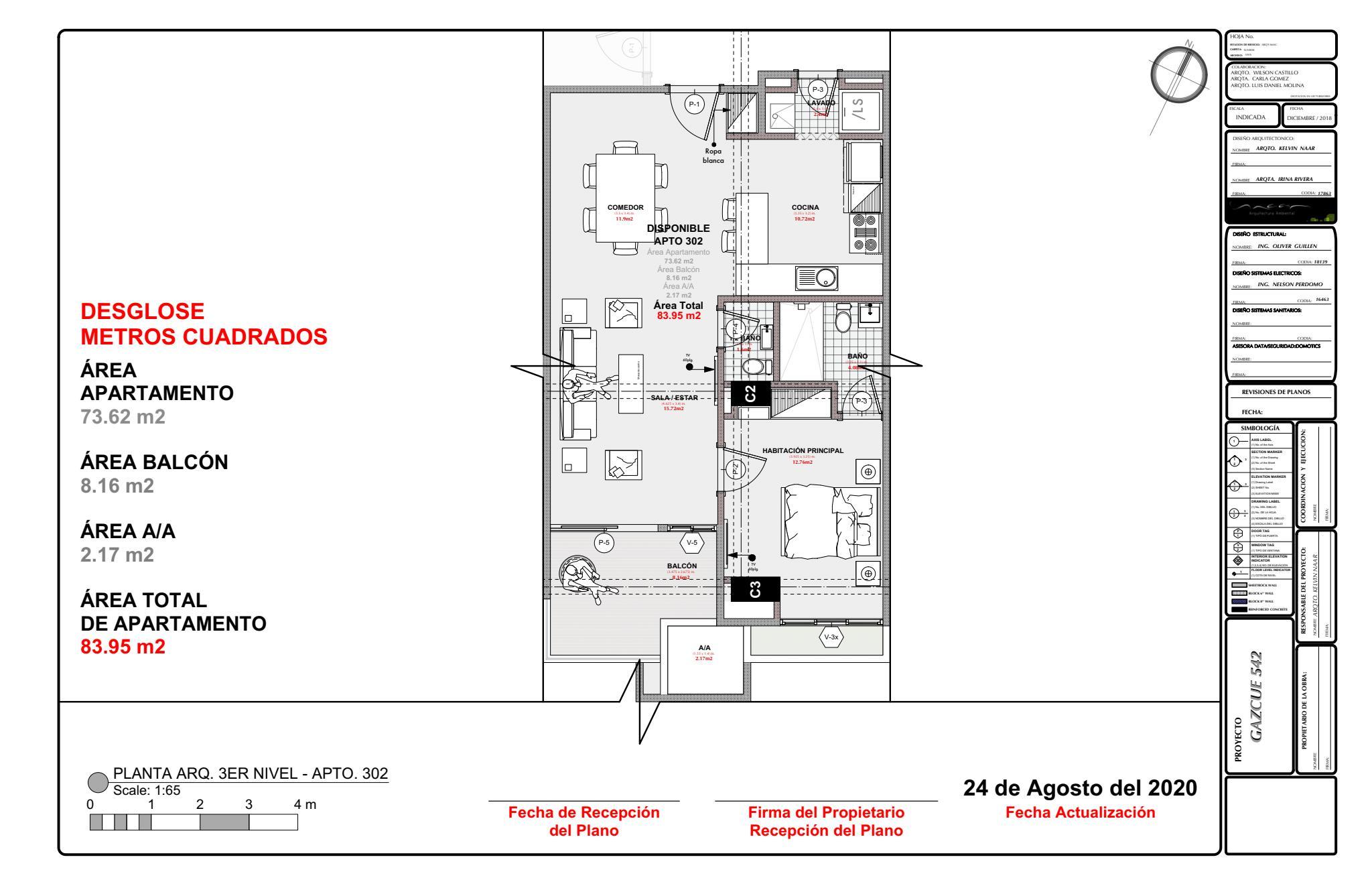 Apartamento Santo Domingo>Distrito Nacional>Gazcue - Venta:446.467 Dolares - codigo: 21-1219