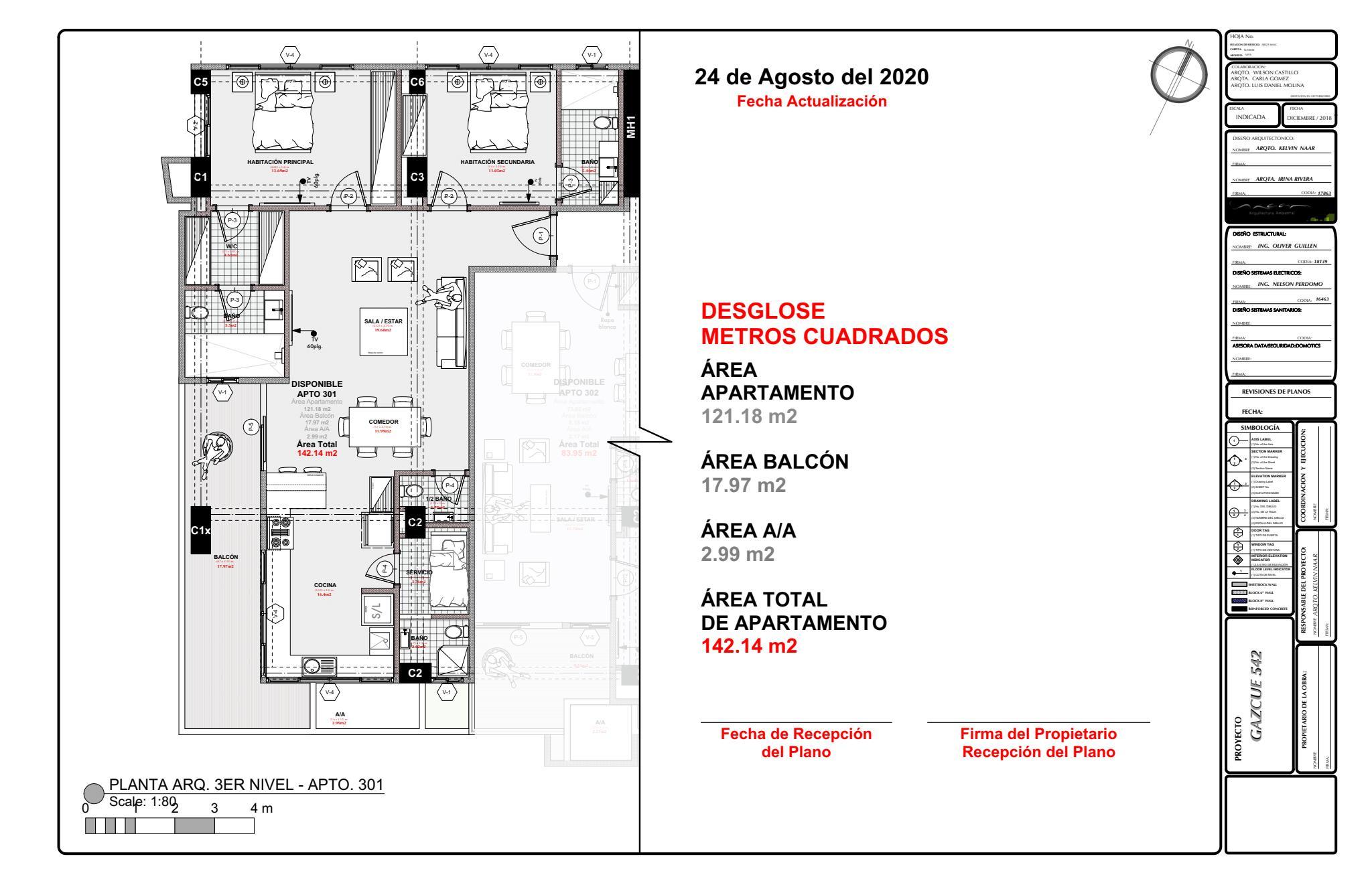Apartamento Santo Domingo>Distrito Nacional>Gazcue - Venta:218.344 Dolares - codigo: 21-1216