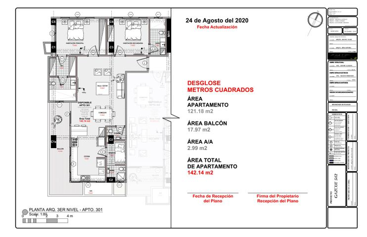 Apartamento Santo Domingo>Distrito Nacional>Gazcue - Venta:218.344 Dolares - codigo: 21-1213