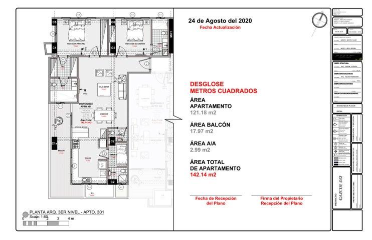 Apartamento Santo Domingo>Distrito Nacional>Gazcue - Venta:181.019 Dolares - codigo: 21-1210