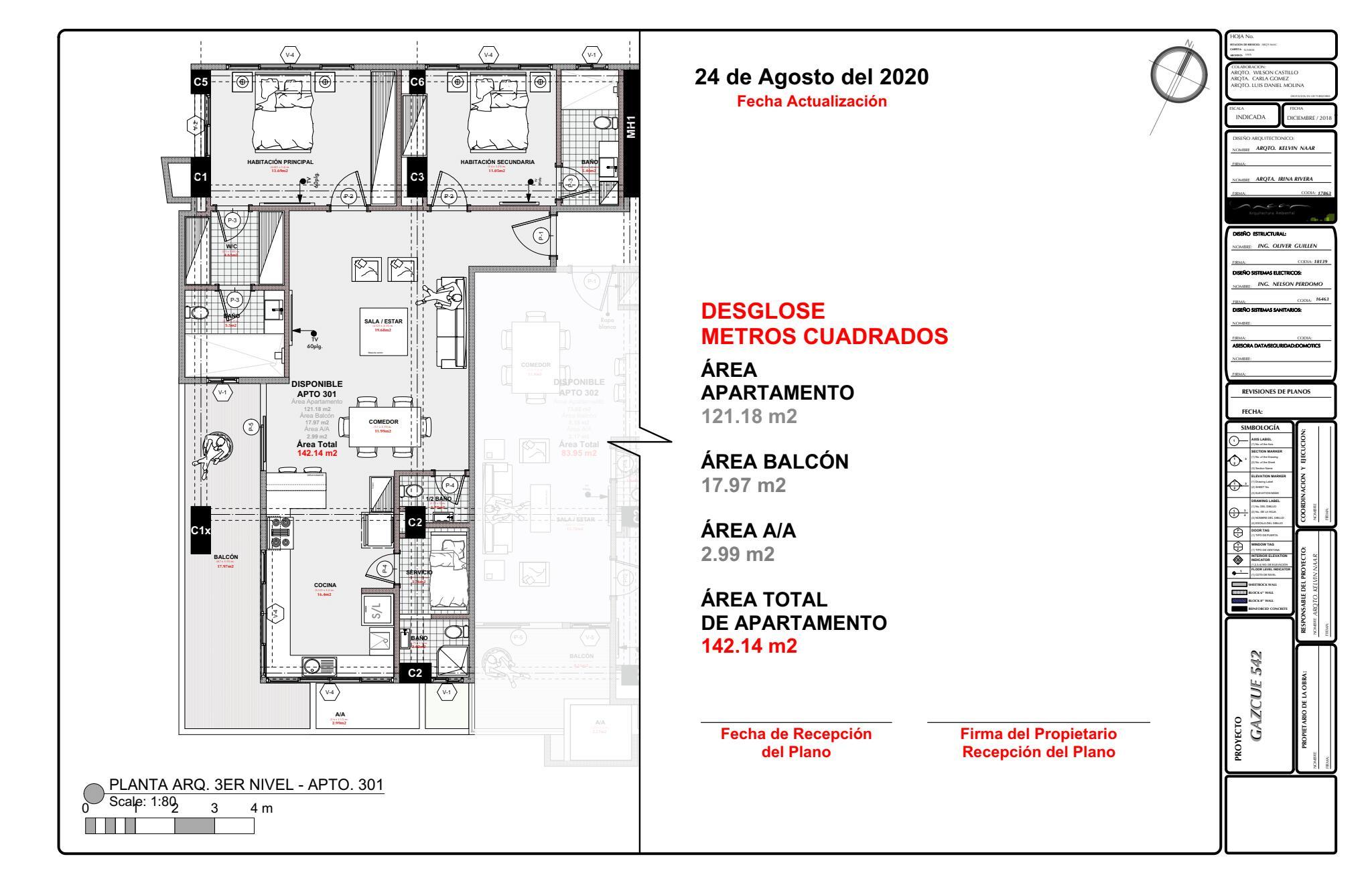 Apartamento Santo Domingo>Distrito Nacional>Gazcue - Venta:214.445 Dolares - codigo: 21-1209