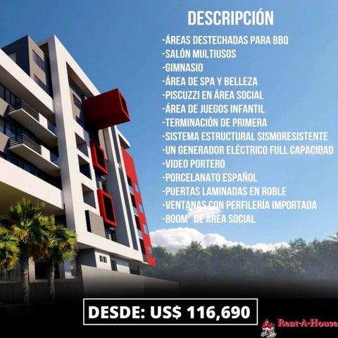 Apartamento Santo Domingo>Distrito Nacional>Gazcue - Venta:118.668 Dolares - codigo: 21-1214