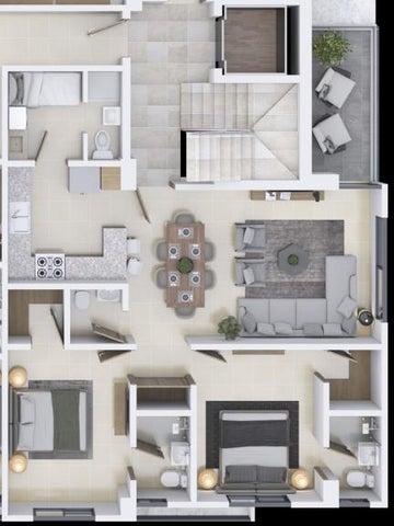 Apartamento Santo Domingo>Distrito Nacional>Los Restauradores - Venta:134.200 Dolares - codigo: 21-1258