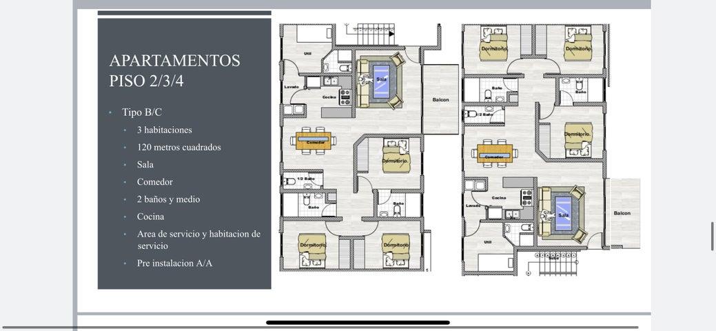 Apartamento Santo Domingo>Santo domingo Este>Alma Rosa I - Venta:125.400 Dolares - codigo: 21-1330
