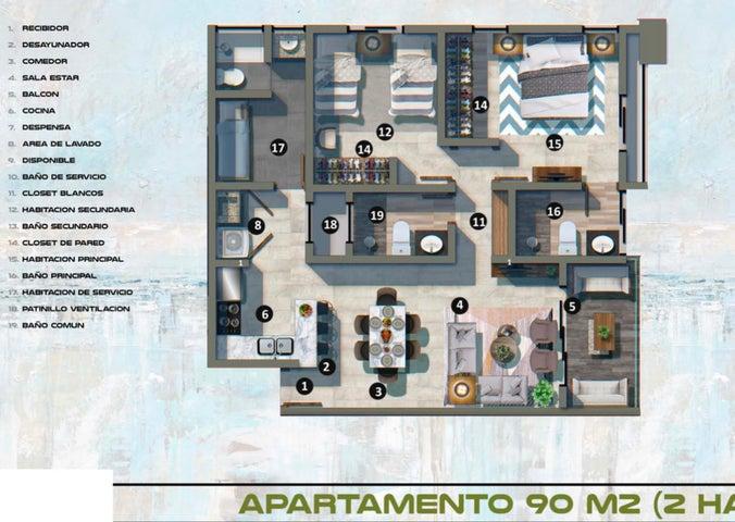 Apartamento Santo Domingo>Distrito Nacional>Gazcue - Venta:95.854 Dolares - codigo: 21-1396