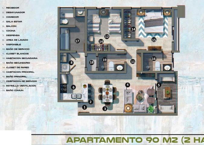 Apartamento Santo Domingo>Distrito Nacional>Gazcue - Venta:189.456 Dolares - codigo: 21-1398