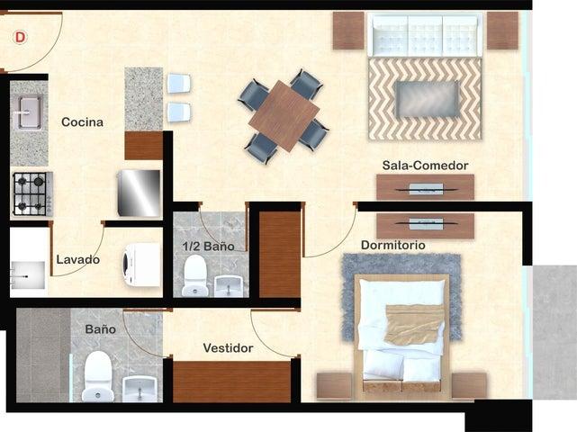 Apartamento Santo Domingo>Distrito Nacional>Evaristo Morales - Venta:108.900 Dolares - codigo: 21-1432