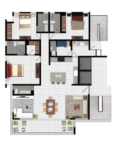 Apartamento Santiago de los Caballeros>Santiago>Santiago de los Caballeros - Venta:317.955 Dolares - codigo: 21-1726