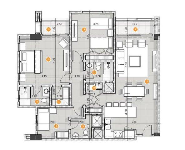 Apartamento La Altagracia>Punta Cana>Punta Cana - Venta:245.868 Dolares - codigo: 21-2270