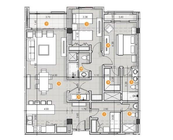 Apartamento La Altagracia>Punta Cana>Punta Cana - Venta:260.858 Dolares - codigo: 21-2274
