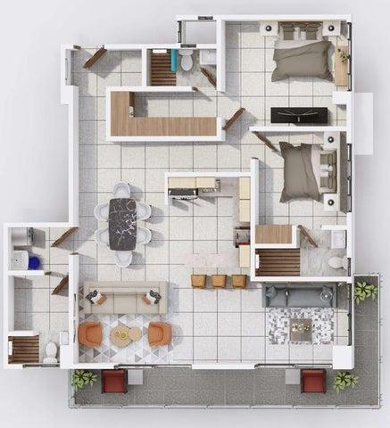 Apartamento Santo Domingo>Distrito Nacional>La Esperilla - Venta:187.570 Dolares - codigo: 21-2351
