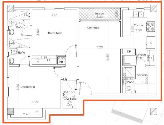 Apartamento Santo Domingo>Distrito Nacional>Renacimiento - Venta:198.500 Dolares - codigo: 21-2123