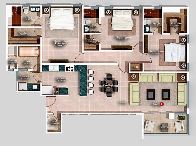 Apartamento Santo Domingo>Distrito Nacional>Naco - Venta:500.500 Dolares - codigo: 21-2502