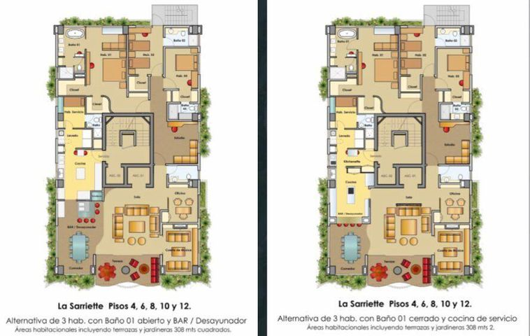 Apartamento Santo Domingo>Distrito Nacional>Naco - Venta:570.000 Dolares - codigo: 21-2636