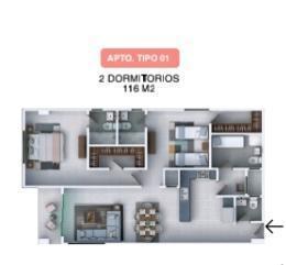 Apartamento Santo Domingo>Distrito Nacional>Los Restauradores - Venta:131.100 Dolares - codigo: 21-2758
