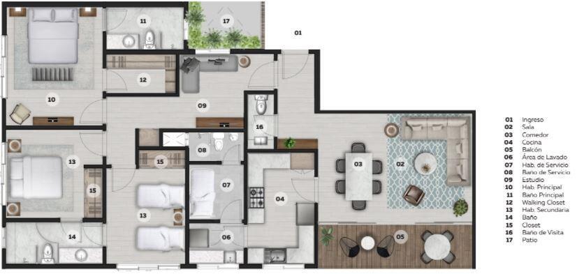 Apartamento Santo Domingo>Santo Domingo Oeste>Av Prolongacion 27 de Febrero - Venta:129.500 Dolares - codigo: 21-2776