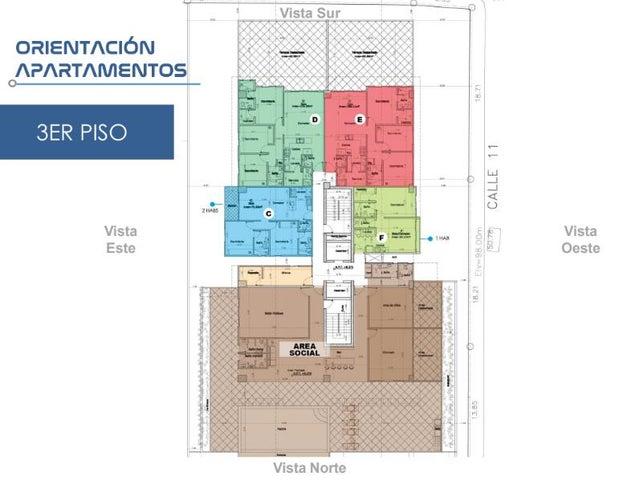 Apartamento Santo Domingo>Santo domingo Este>Alma Rosa I - Venta:59.858 Dolares - codigo: 21-2872